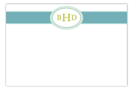 Teal Senior Seal Flat Note Card