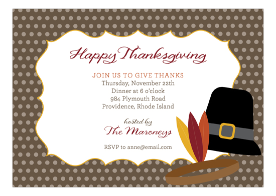 Thanksgiving Icons Invitation