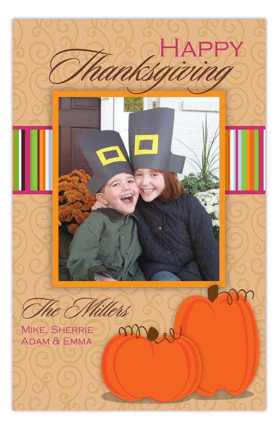 Thanksgiving Pumpkins Photo Card