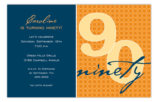 The Big Ninety Invitation