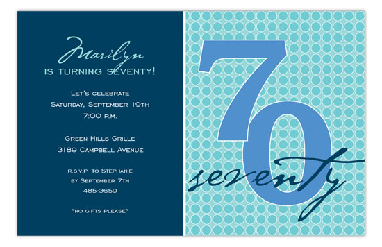 The Big Seventy Invitation