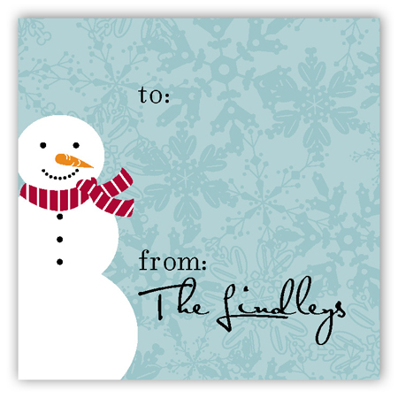 The Coolest Snowman Gift Tag