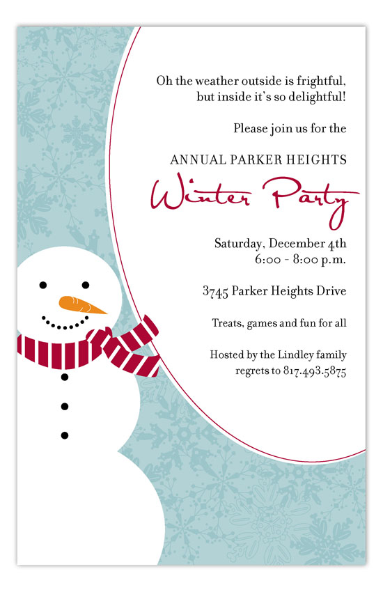 Winter Party Invitations - Winter party invitation template free