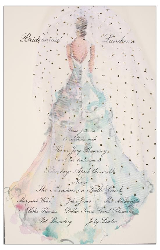 Odd Balls The Gown Bridal Shower Invitation : Bridal ...