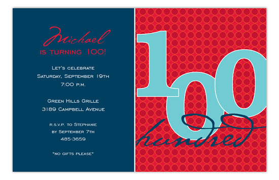 The One Hundred Invitation
