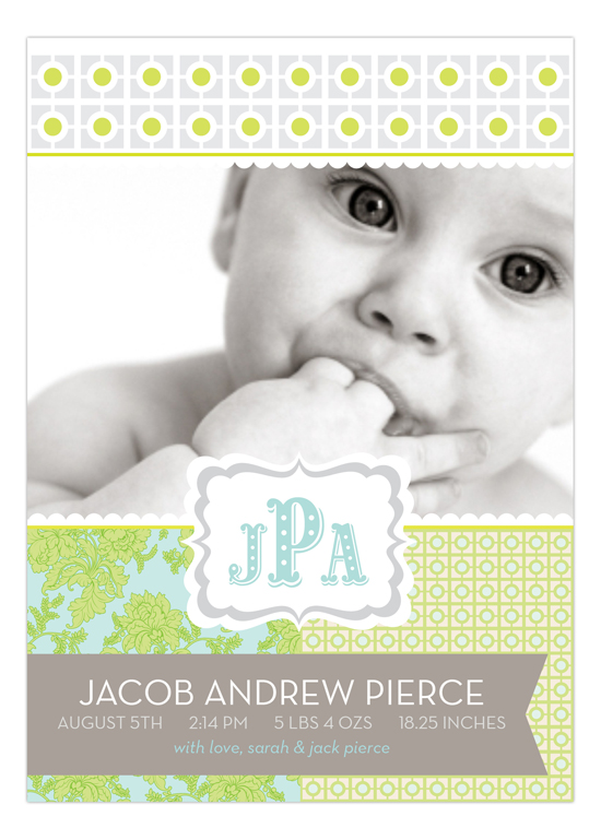 The Perfect Welcome Pale Green Photo Card
