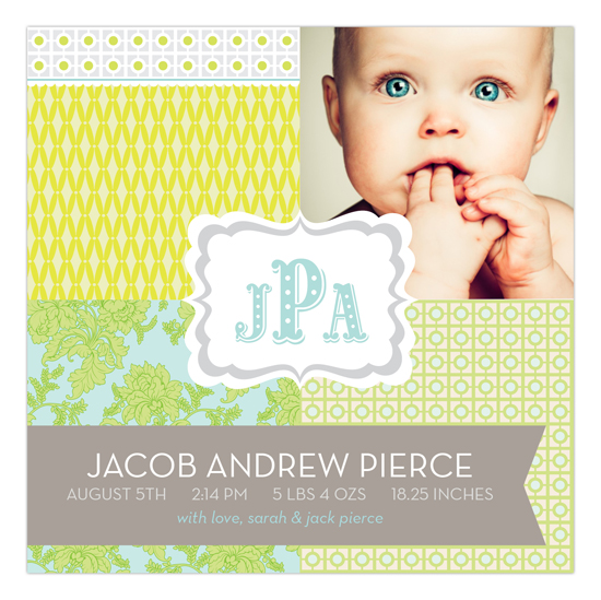 The Perfect Welcome Pale Green Square Photo Card