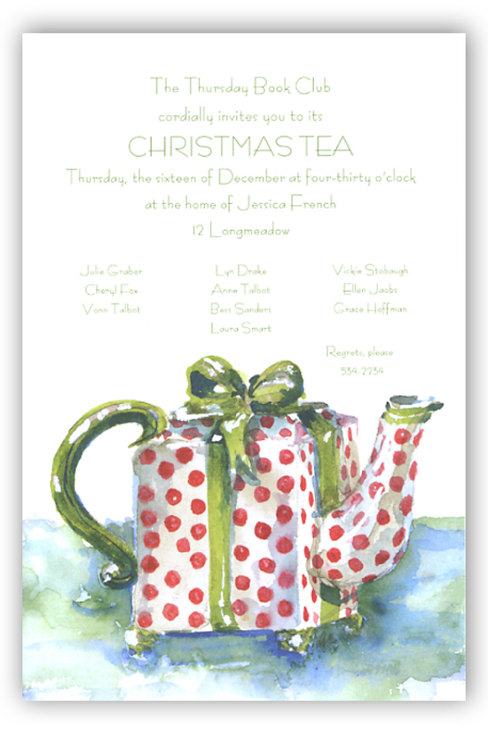 Thee Me and Tea Invitation