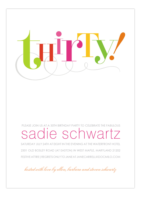 Thirty! Invitation