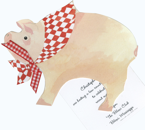 This Little Piggy Invitation
