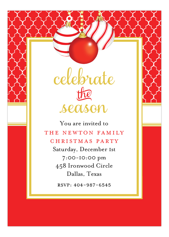 Three Ornaments Invitation