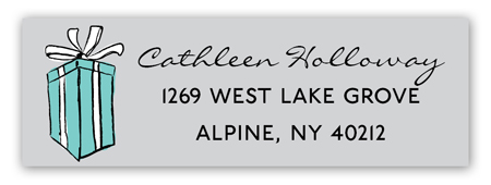 Tiffany Blue Address Label