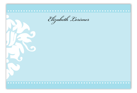 Tiffany Damask Flat Note Card