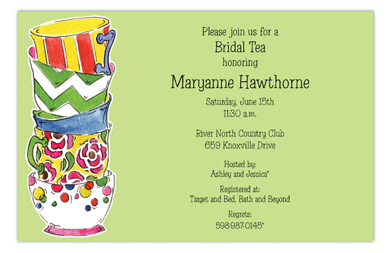 Cup Stack Time For Princess Tea Party Invitations
