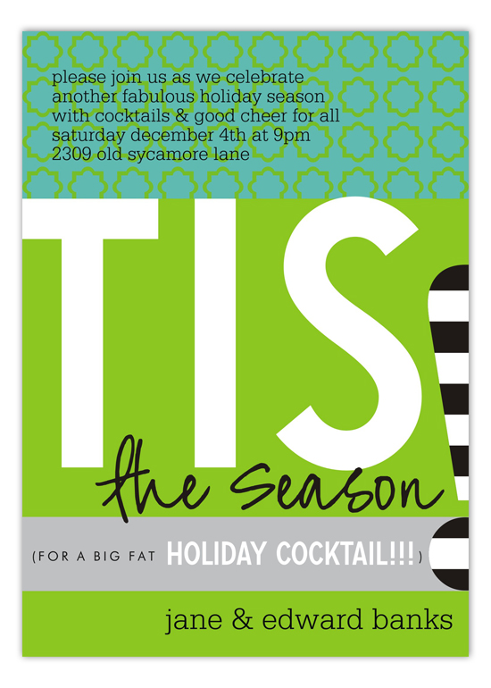 Tis the Season For a Big Fat Holiday Cocktail Invitations