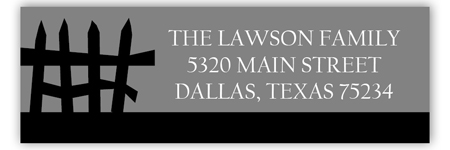 Tombstone Address Label