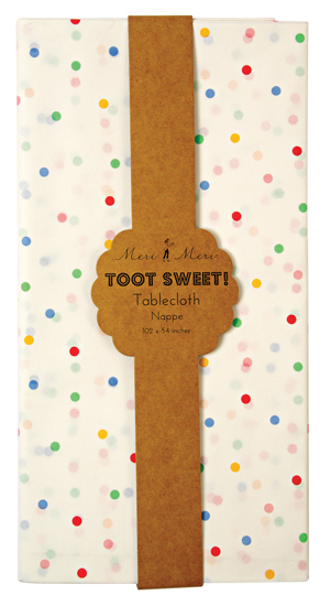 Toot Sweet Spotty Paper Tablecloth