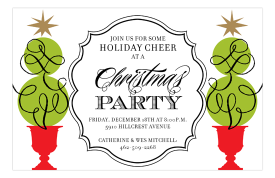 Topiary Cheer Invitation