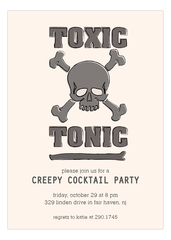 Toxic Tonic  Invitation