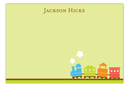 Train Flat Note Card