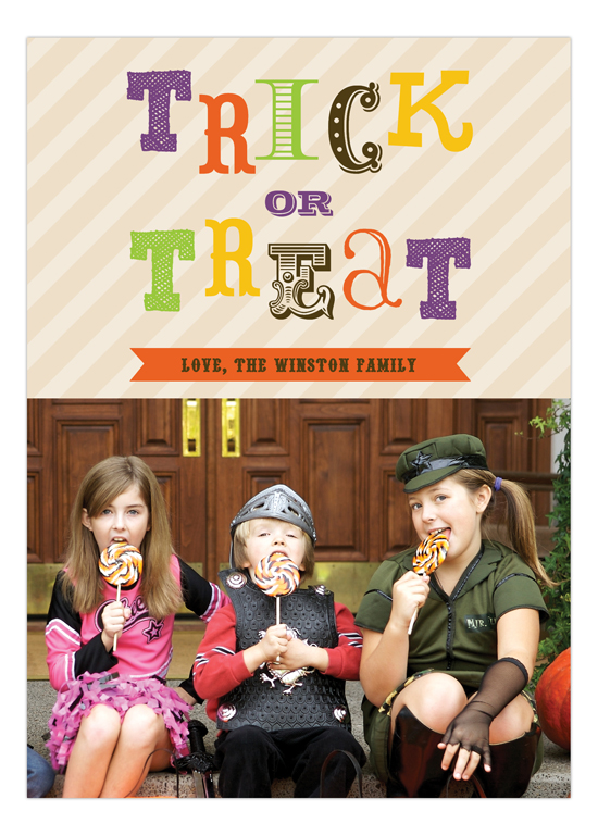 Trick or Treat Photo Card