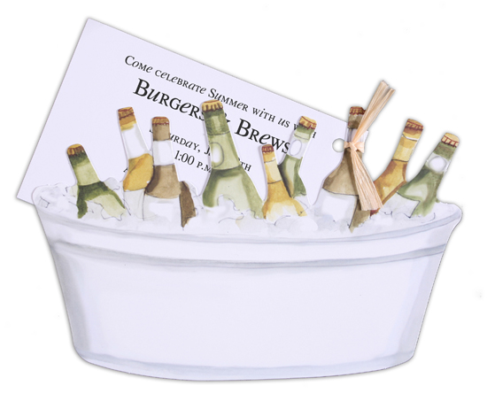 Tub of Beer Invitation