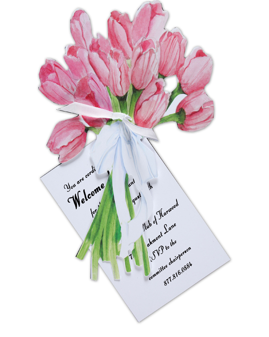 Tulip Bouquet Invitation