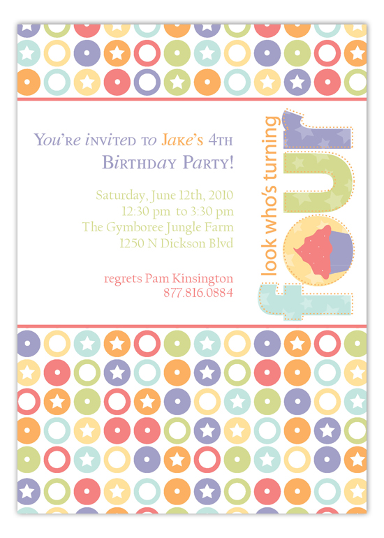 Turning Four Invitation