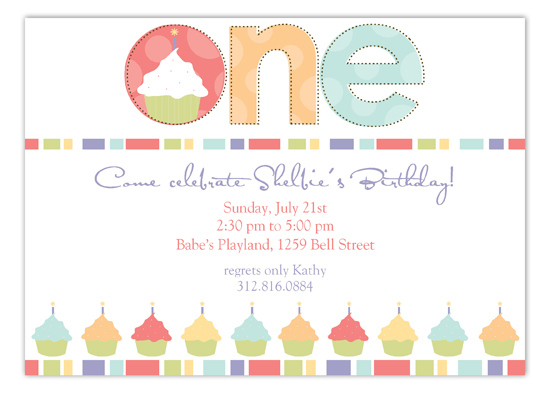 Pastel Colors Turning One Invitation