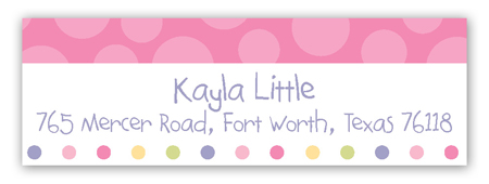 Turning Three Soft Pastels Address Label