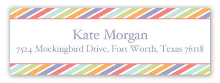 Turning Two Address Label
