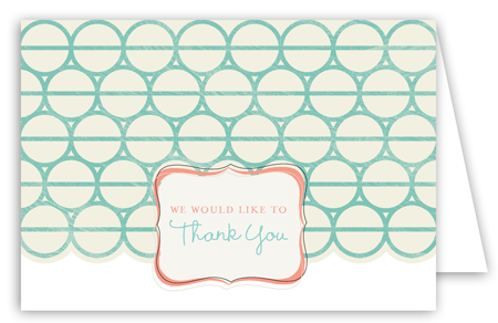 Turquoise Mod Circles Note Card