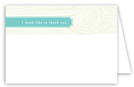 Turquoise Woodgrain Note Card