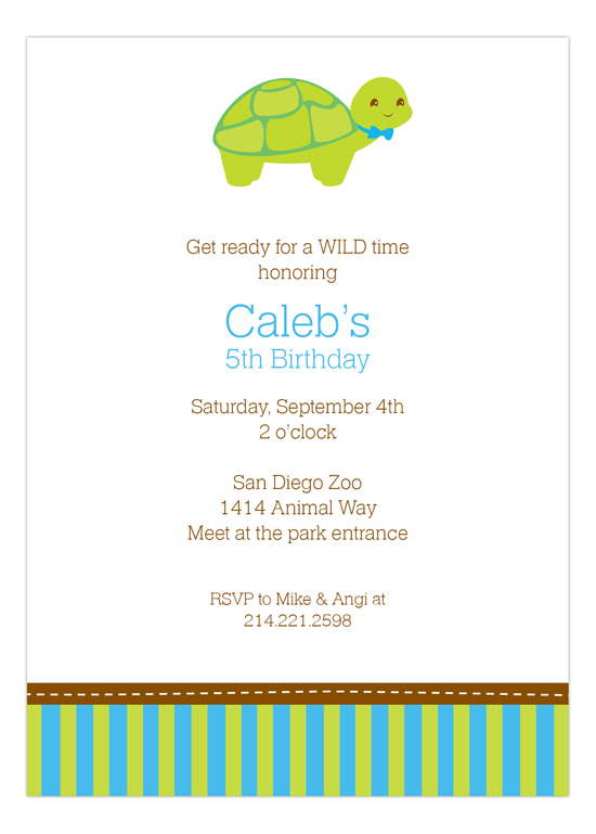 Turtle Invitation