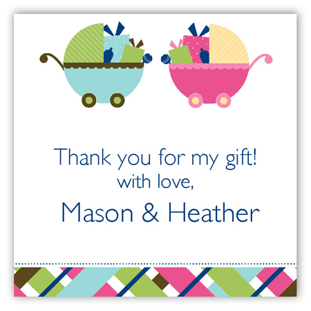 Twin Carriage Gifts Square Sticker