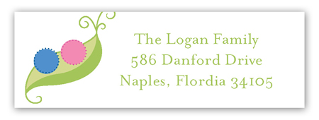Twin Peapod Address Label
