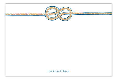 Tying the Knot Flat Note Card