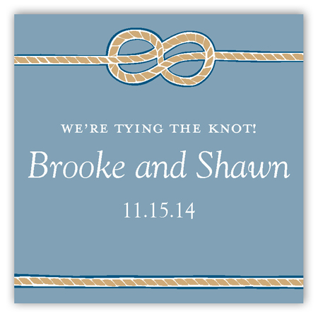 Tying the Knot Square Sticker