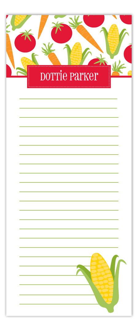 Veggie Lovers Notepad
