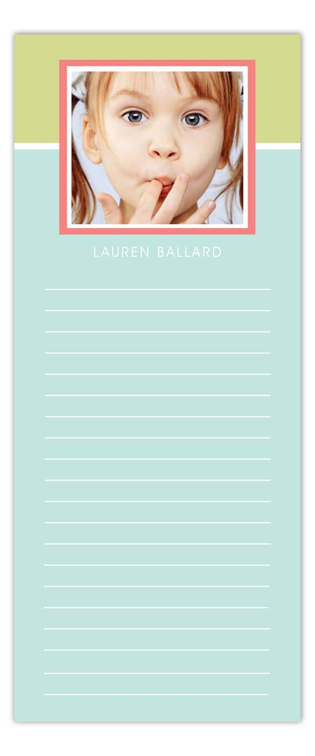 Very Pastel Photo Notepad