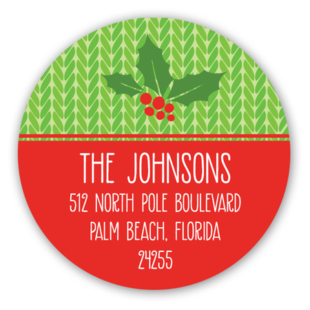 Warm and Fuzzy Christmas Round Sticker