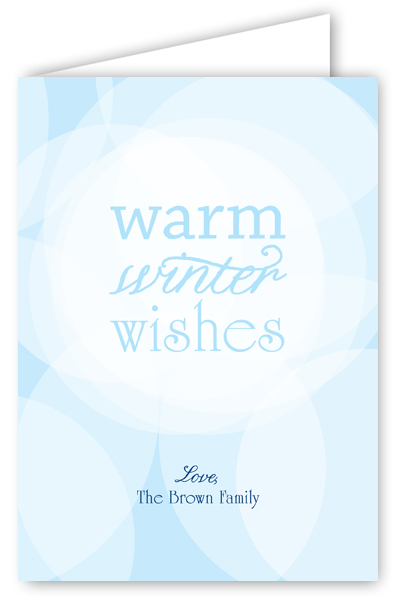 Warm Winter Wishes Greeting Card