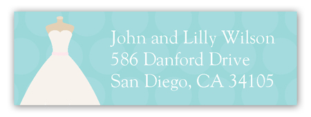 Wedding Dress Form Address Label