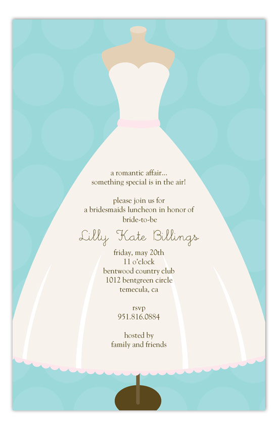 Wedding Dress Form Invitation