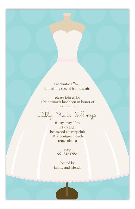 Mannequin Bridal Shower Bachelorette Party Invitation