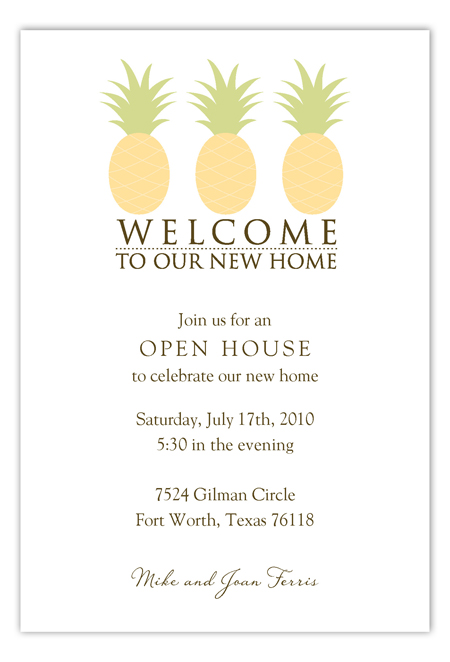 Welcome To Our New Home Invitation