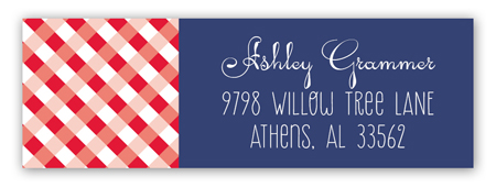 Western Gingham Address Label