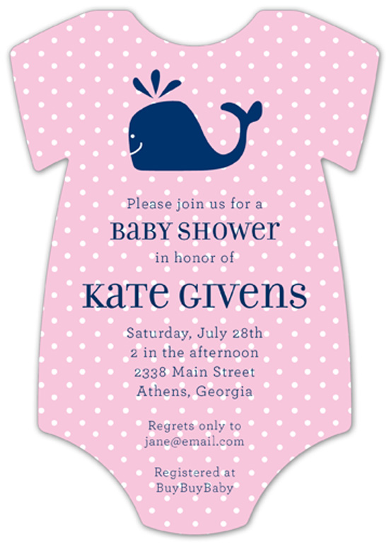 onesie baby shower invitations