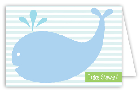 Whale Note Card