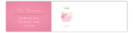 When Pink Pigs Fly Envelope Wrap Address Label